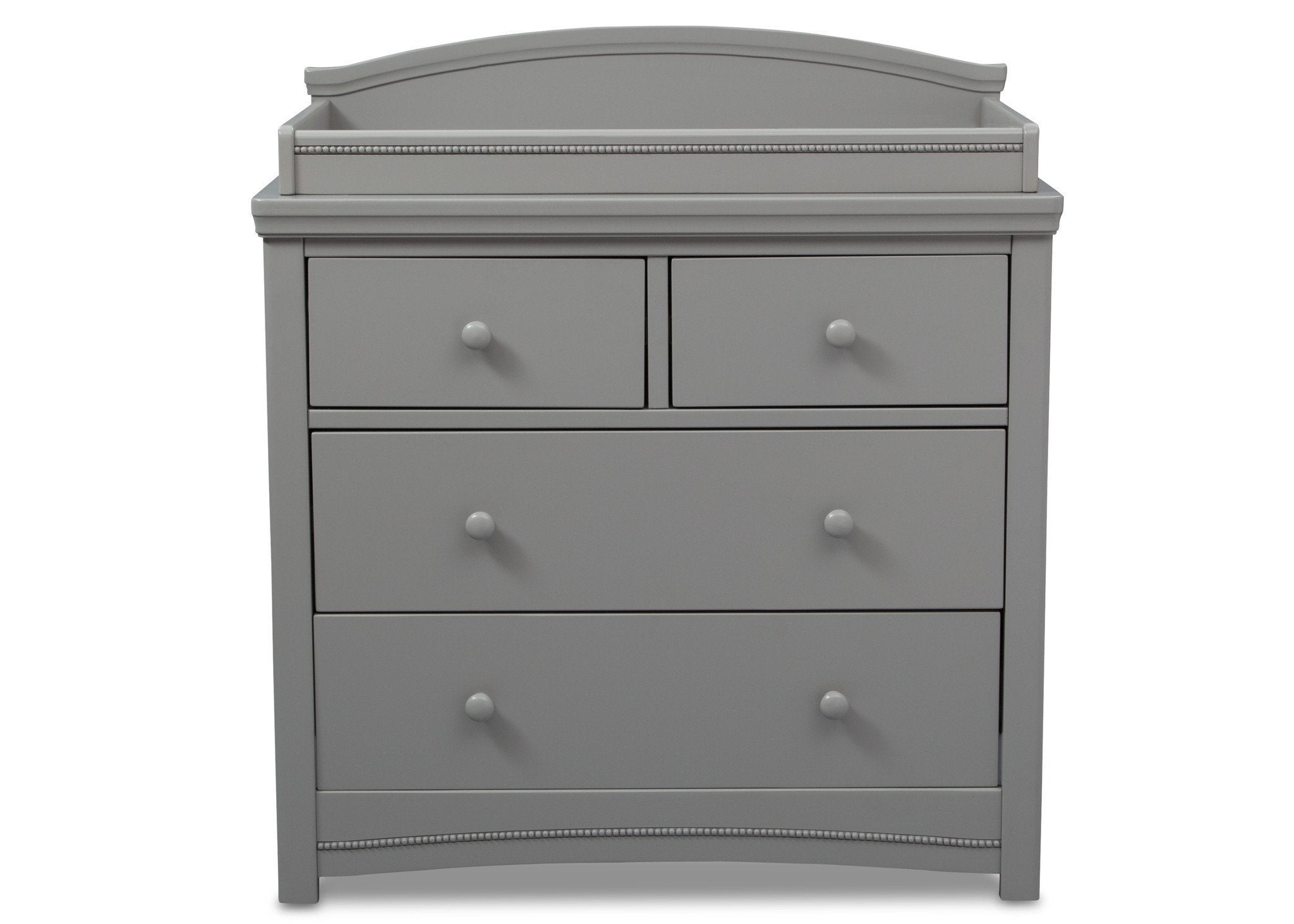 Simmons Kids Grey (026) Emma 4 Drawer Dresser with Changing Top Front Facing View