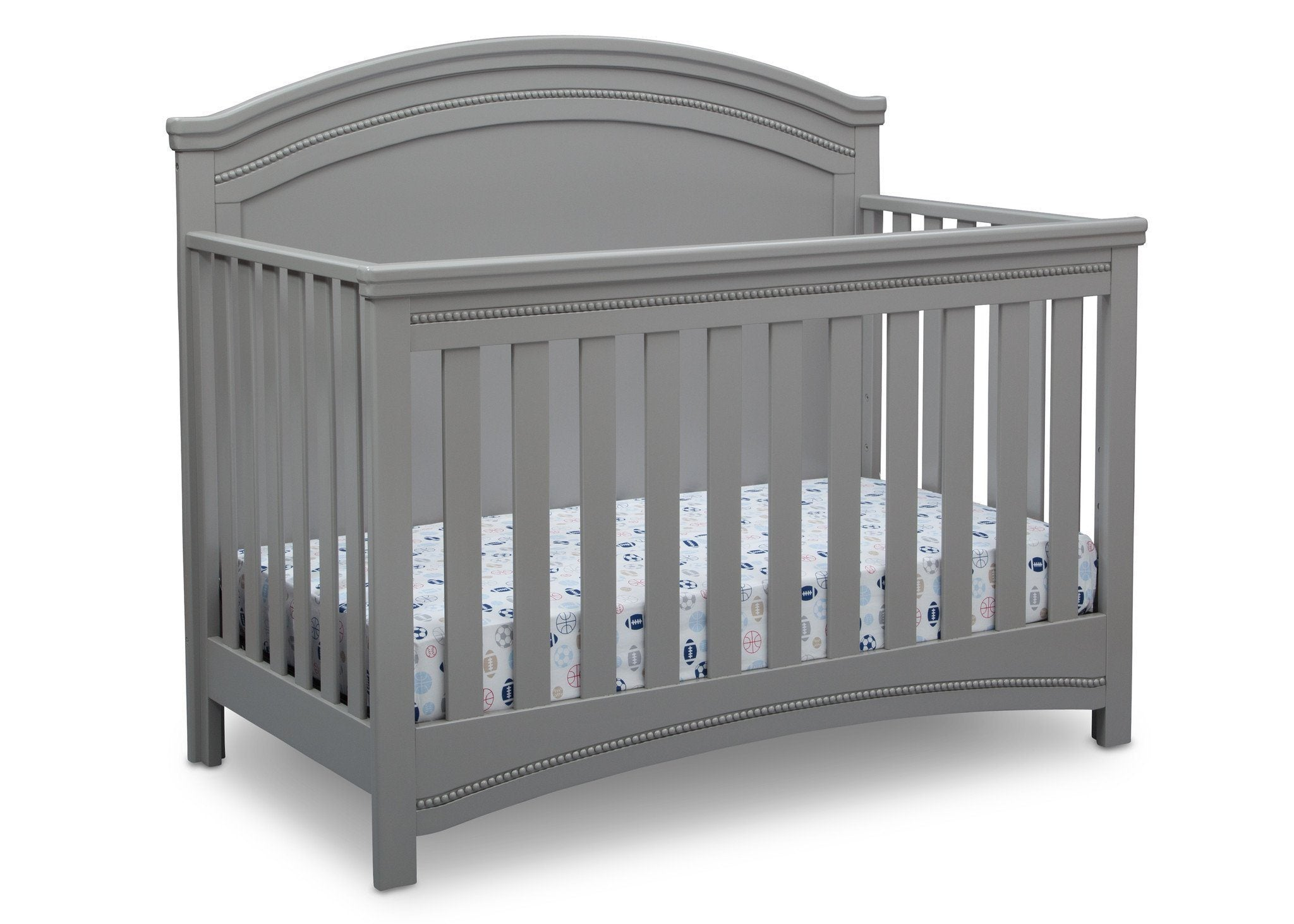 Simmons Kids Grey (026) Emma Crib 'N' More Right Facing View a3a