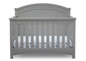 Simmons Kids Grey (026) Emma Crib 'N' More Front Facing View a2a