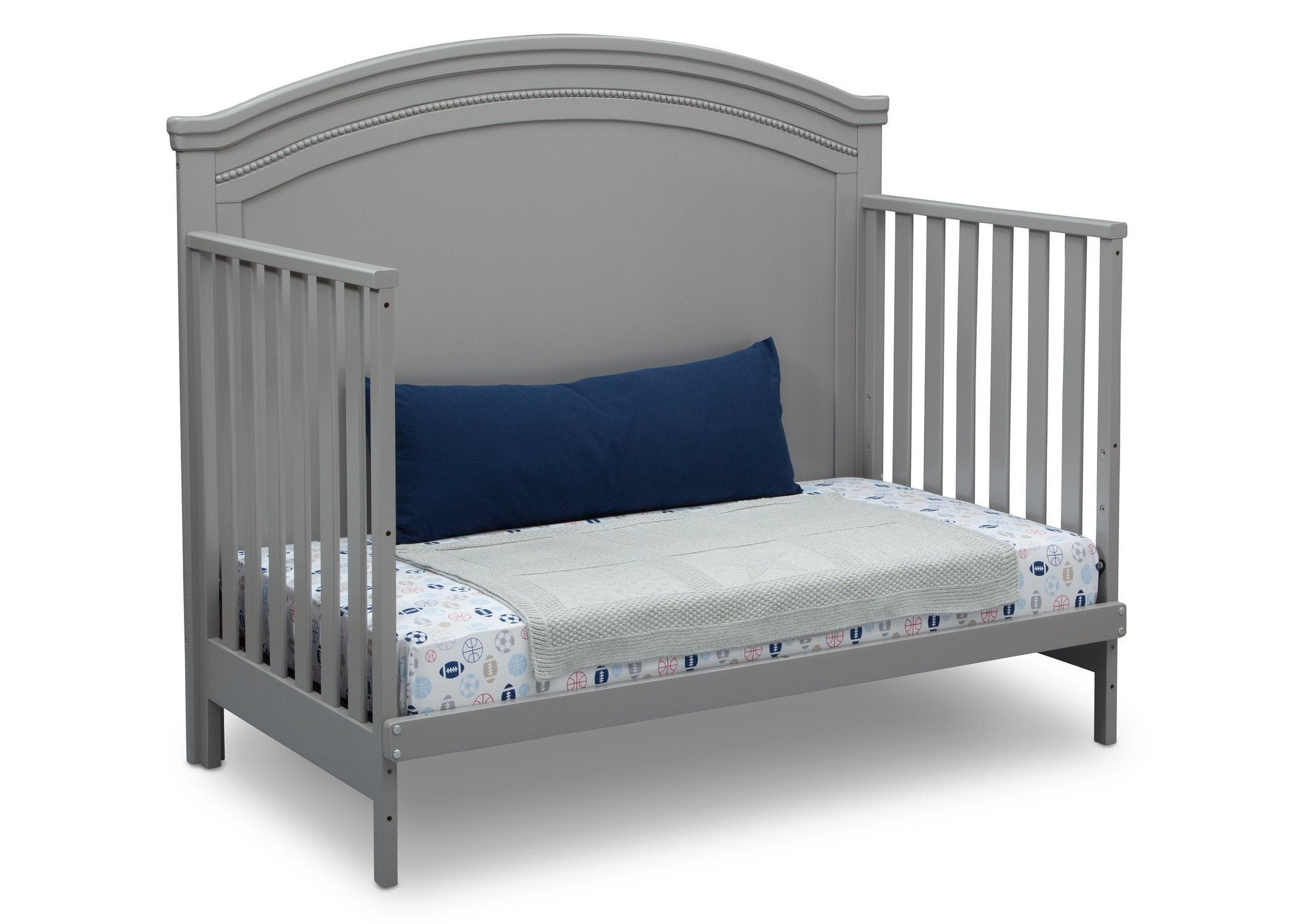 Simmons Kids Grey (026) Emma Crib 'N' More Angled Day Bed Conversion View a5a