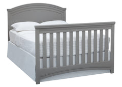 Simmons Kids Grey (026) Emma Crib 'N' More Angled Full Size Bed Conversion View a6a