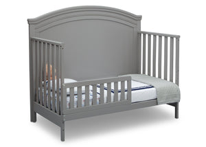 Simmons Kids Grey (026) Emma Crib 'N' More Angled Toddler Bed Conversion View a4a
