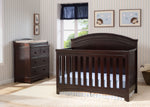 Simmons Kids Black Espresso (907) Emma Crib 'N' More Front Facing View b1b