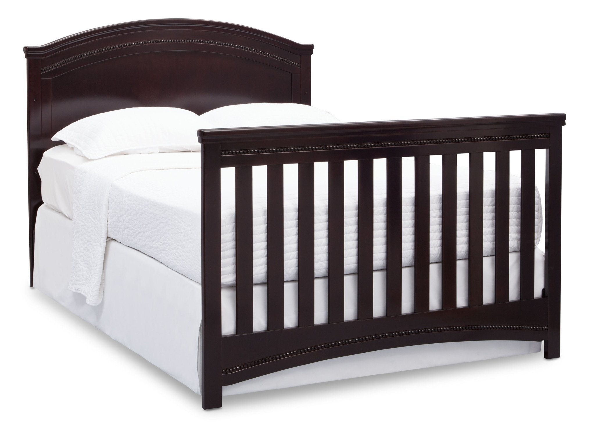 Simmons Kids Black Espresso (907) Emma Crib 'N' More Angled Full Size Bed Conversion View b6b