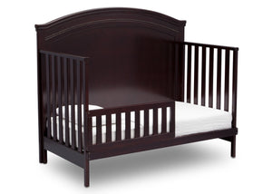 Simmons Kids Black Espresso (907) Emma Crib 'N' More Angled Toddler Bed Conversion View b4b