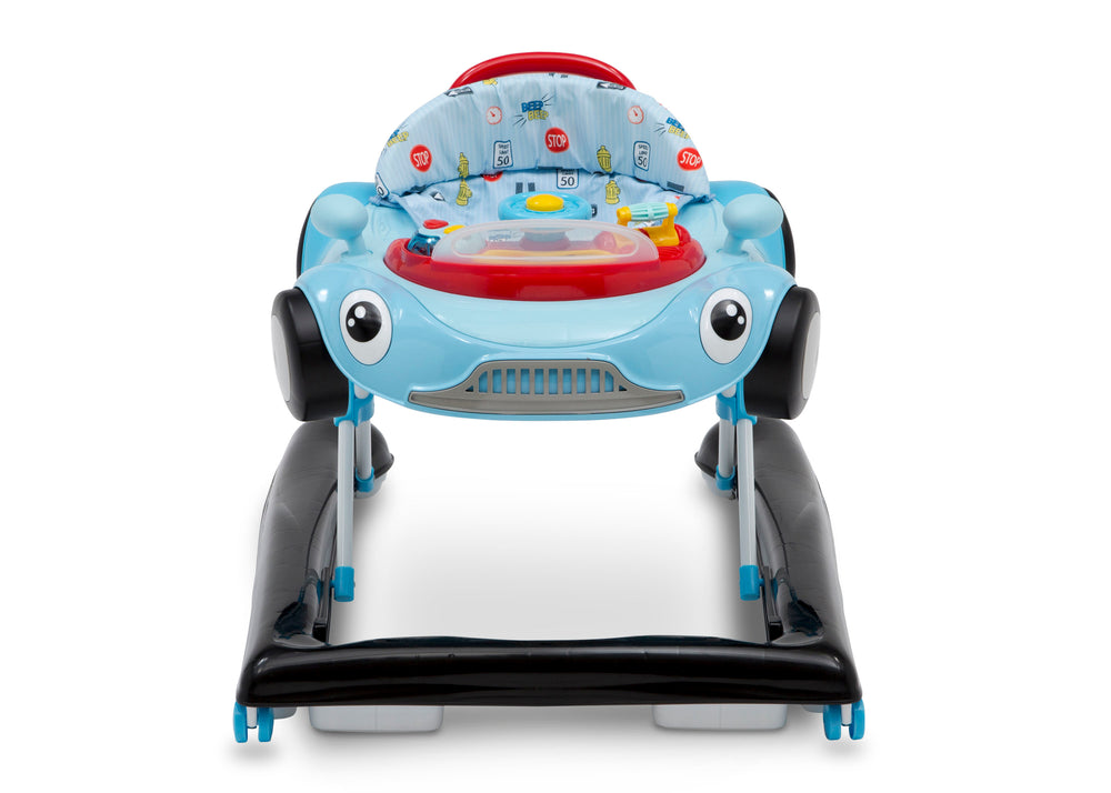 Delta Children Blue (2096) First Race 2-in-1 Baby Walker, Front Silo View