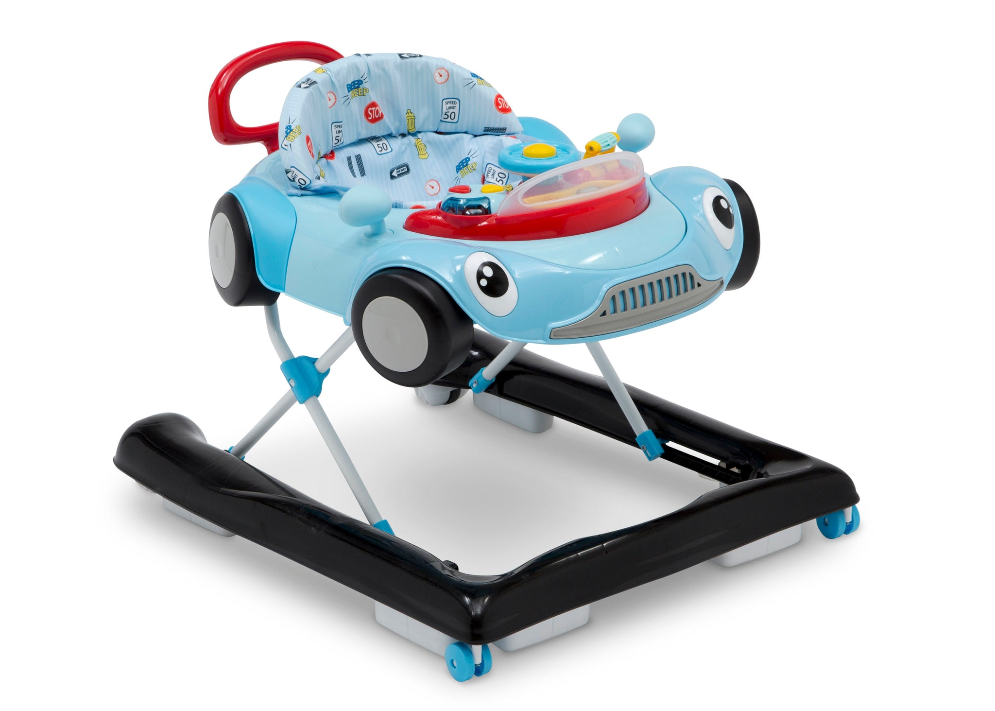 Delta Children Blue (2096) First Race 2-in-1 Baby Walker, Side View