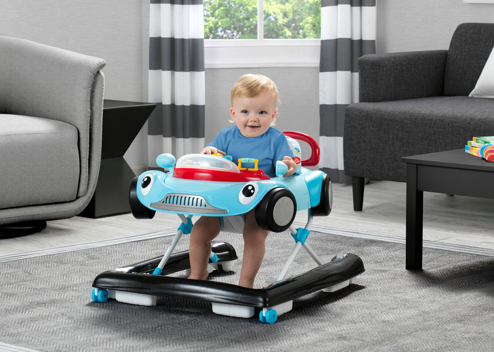 Delta Children Blue (2096) First Race 2-in-1 Baby Walker, Model View
