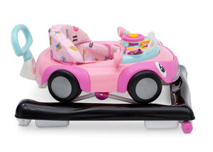 Delta Children Pink (2097) First Race 2-in-1 Baby Walker, Side Floor Silo View