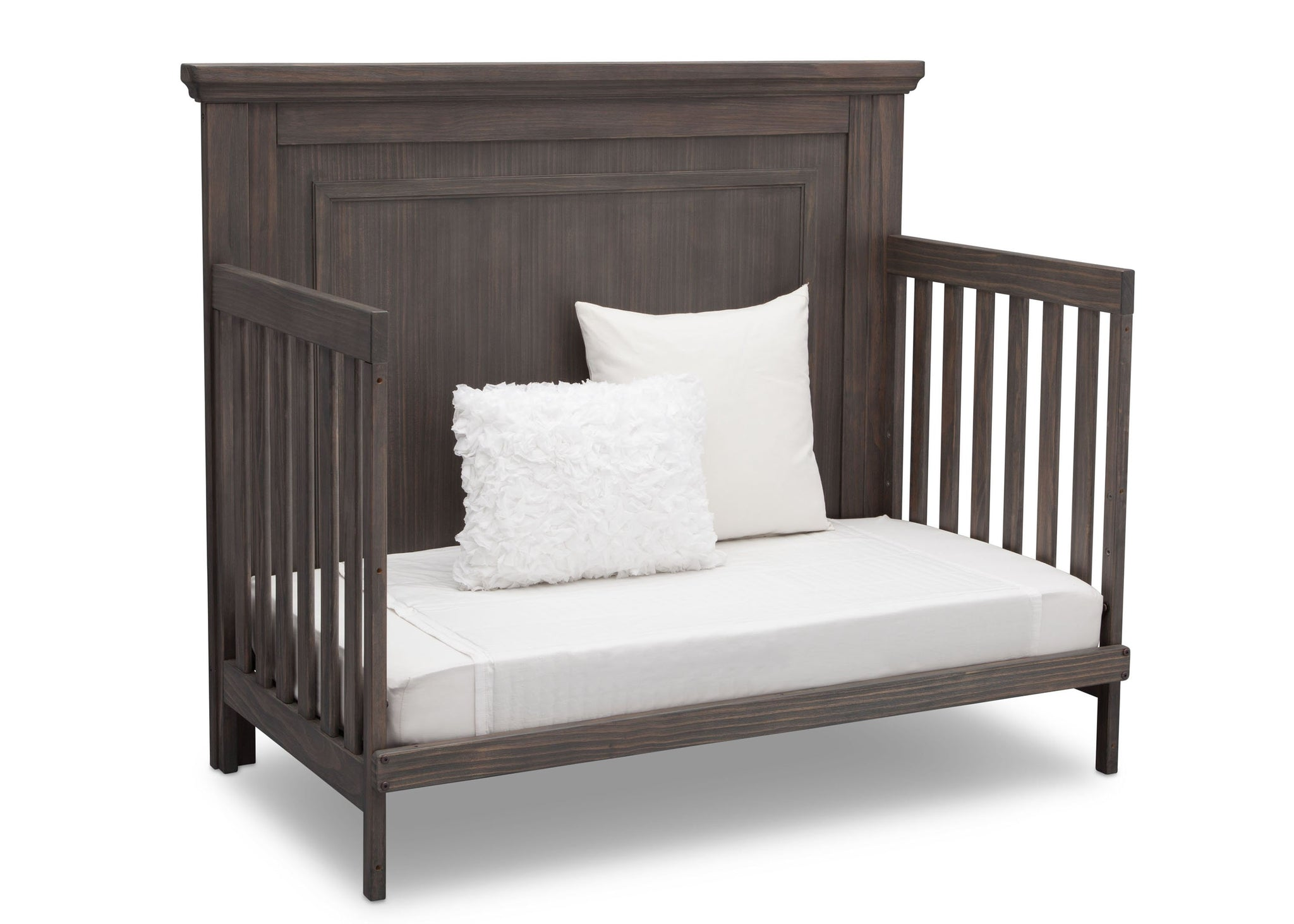 Simmons Rustic Grey (084) Paloma 4-in-1 Convertible Crib (328150), Silo Daybed, a5a