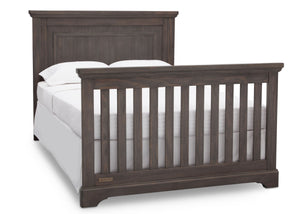 Simmons Rustic Grey (084) Paloma 4-in-1 Convertible Crib (328150), Full Bed, a6a