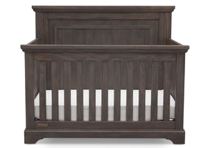 Simmons Rustic Grey (084) Paloma 4-in-1 Convertible Crib (328150), Silo Crib Front, a2a