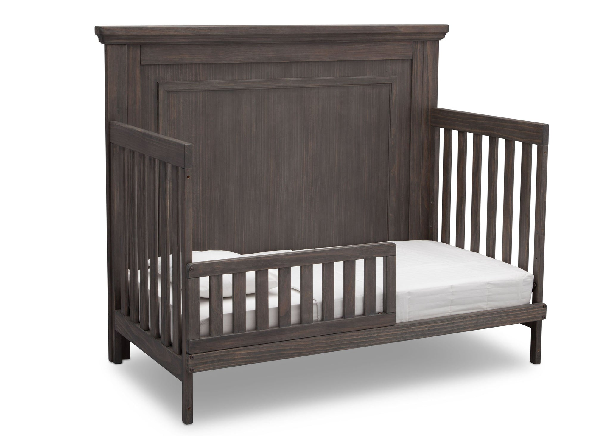 Simmons Rustic Grey (084) Paloma 4-in-1 Convertible Crib (328150), Silo Toddler Bed, a4a