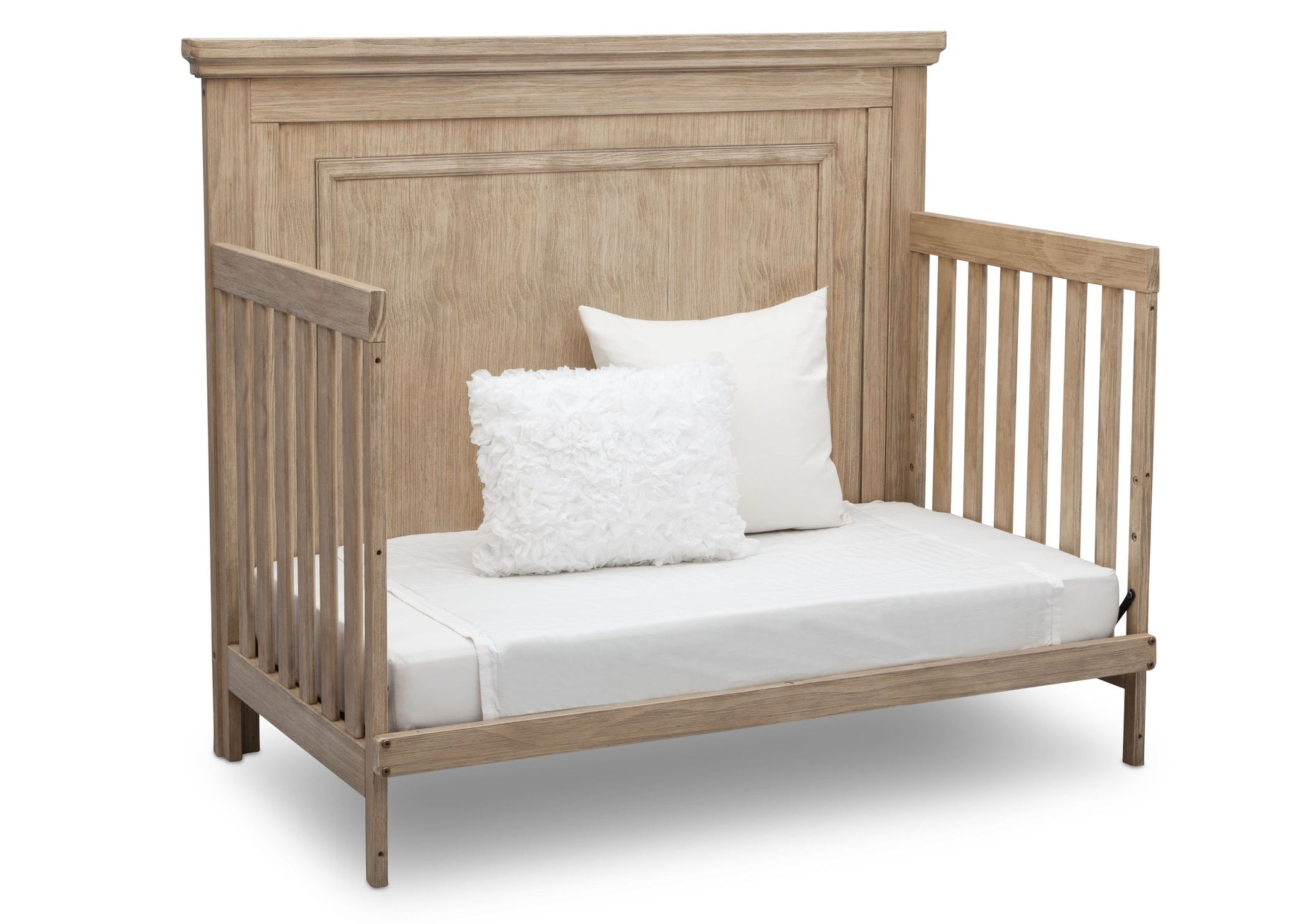 Simmons Rustic Driftwood (112) Paloma 4-in-1 Convertible Crib (328150), Silo Daybed, b5b