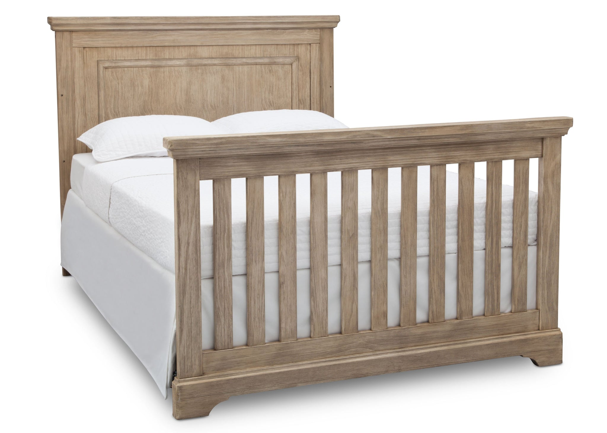 Simmons Rustic Driftwood (112) Paloma 4-in-1 Convertible Crib (328150), Silo FullBed, b6b