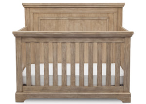 Simmons Rustic Driftwood (112) Paloma 4-in-1 Convertible Crib (328150), Silo Crib Front, b2b