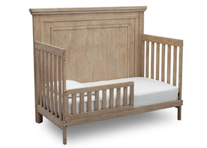 Simmons Rustic Driftwood (112) Paloma 4-in-1 Convertible Crib (328150), Silo Toddler Bed, b4b