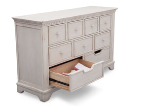 Simmons Kids Antique White (122) Tivoli 9 Drawer Dresser, Detail 1 View, a5a