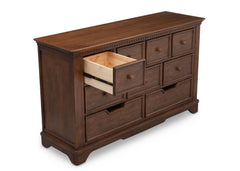 Simmons Kids Antique Chestnut (2100) Tivoli 9 Drawer Dresser, Detail 1 View, b4b
