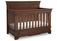 Simmons Kids Antique Chestnut (2100) Tivoli Crib 'N' More, Angled View, a3a