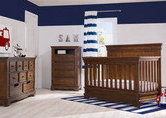 Simmons Kids Antique Chestnut (2100) Tivoli Crib 'N' More, Room View, a1a