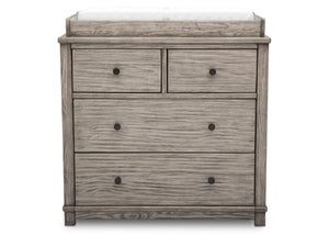 Simmons Kids, Rustic White (119), monterey 4 drawer dresser with changing top, straight view b2b