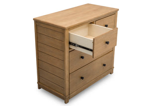 Simmons Kids Rustic Rye (754) Monterey 4 Drawer Dresser with Changing Top, Above View c5c