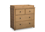Simmons Kids Rustic Rye (754) Monterey 4 Drawer Dresser with Changing Top, Right View c4c