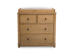 Simmons Kids Rustic Rye (754) Monterey 4 Drawer Dresser with Changing Top, Front View c3c
