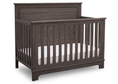 Simmons Kids Rustic Grey (084) Monterey Crib 'N' More Side View a3a