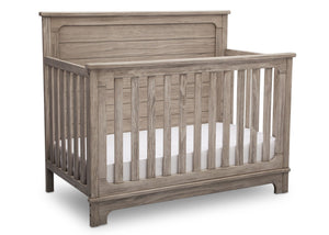 Simmons Kids Rustic White (119) Monterey Crib 'N' More, Side View b3b