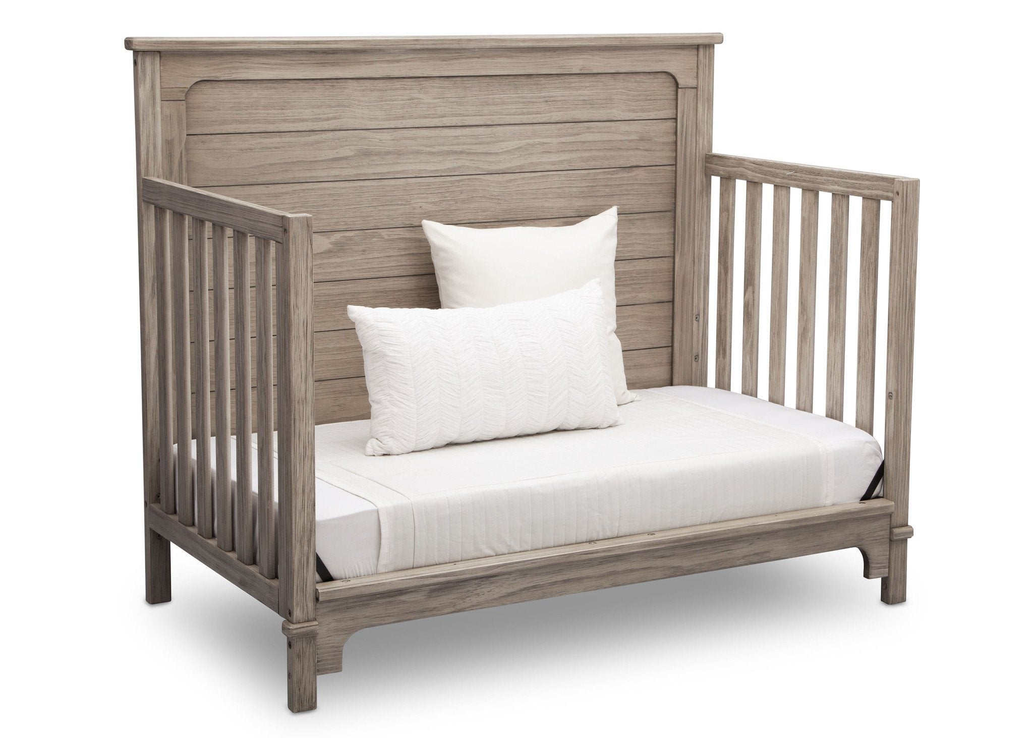 Simmons Kids Rustic White (119) Monterey Crib 'N' More, DayBed Conversion Side View b5b