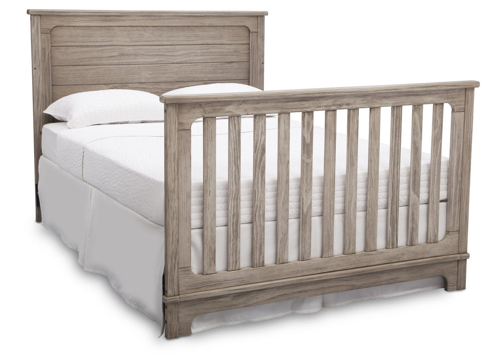 Simmons Kids Rustic White (119) Monterey Crib 'N' More, Full-Size Bed Conversion b6b