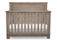 Simmons Kids Rustic White (119) Monterey Crib 'N' More, Front View b2b