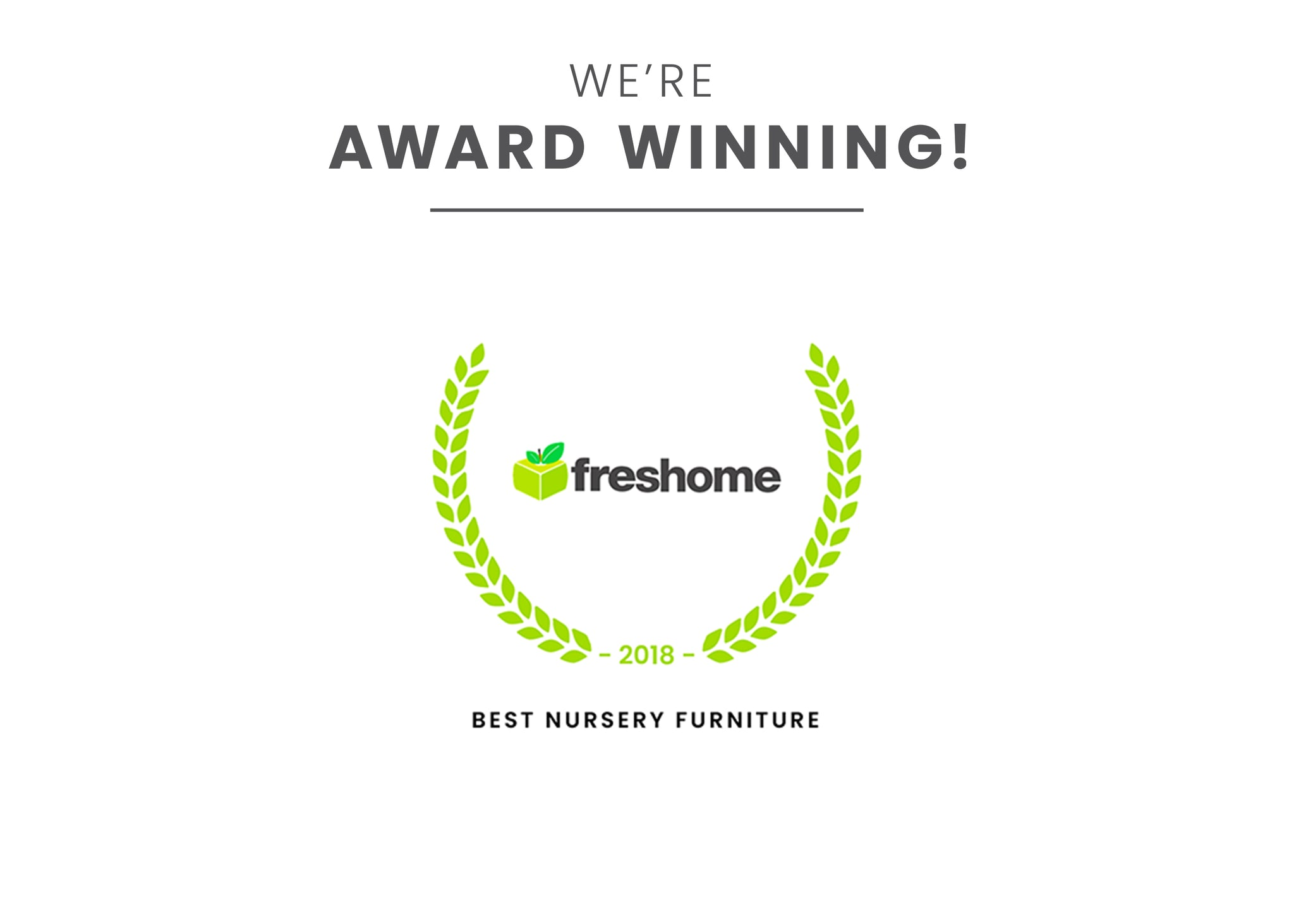 Award badge for Best Nursery Furniture Rustic White (119)