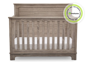 Simmons Kids Rustic White (119) Monterey Crib 'N' More, Front View b2b with badge