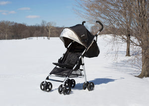 Jeep North Star Stroller by Delta Children, Black with Neutral Grey (2277)