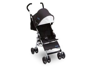 Jeep North Star Stroller by Delta Children, Black with Baby Blue (2279), with padded seat