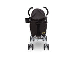 Delta Children Black with Mellow Yellow (731) J is for Jeep Brand North Star Stroller, Back View b2b