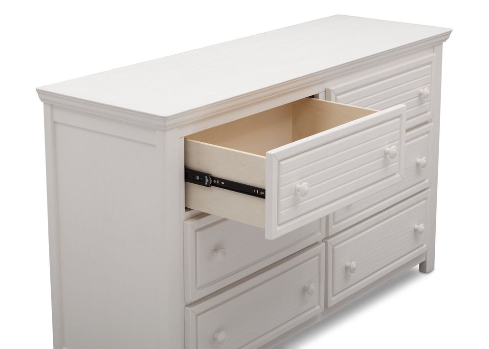 Simmons Kids Rustic Bianca (170) Oakmont 6 Drawer Dresser, Detail View a4a