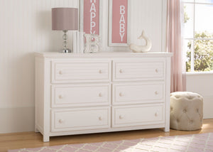 Simmons Kids Rustic Bianca (170) Oakmont 6 Drawer Dresser, Room View a1a