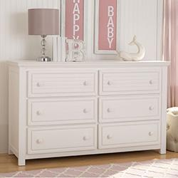 Oakmont 6 Drawer Dresser (Rustic Bianca) - bundle