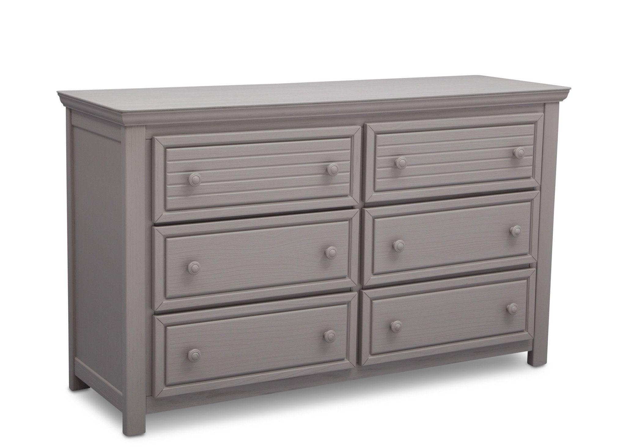 Simmons Kids Rustic Haze (940) Oakmont 6 Drawer Dresser, Side View b2b
