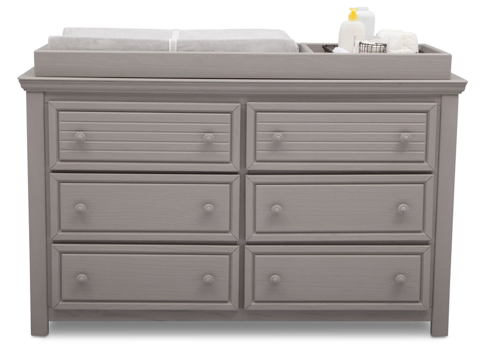 Simmons Kids Rustic Haze (940) Oakmont 6 Drawer Dresser, Front View b1b
