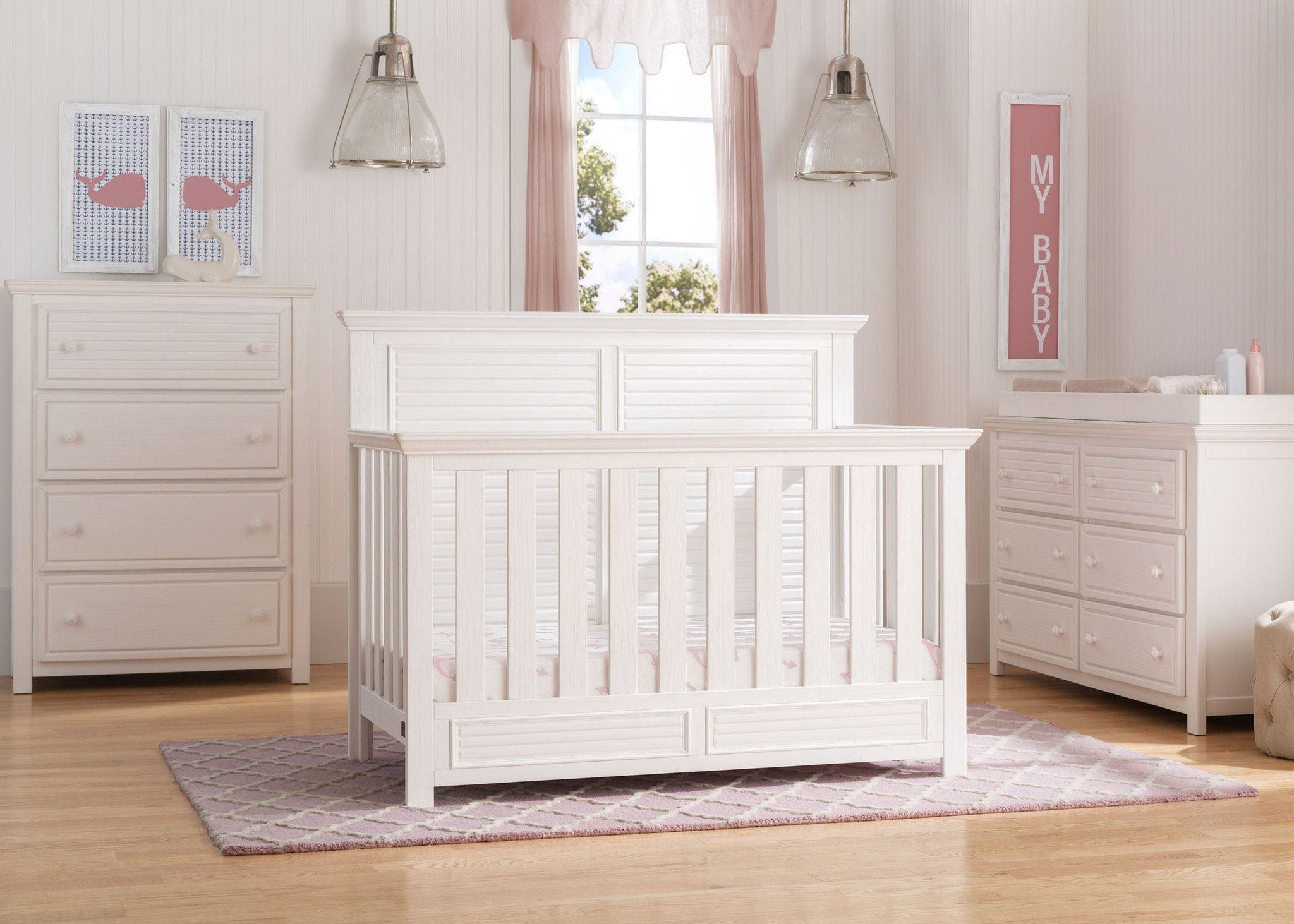 Simmons Kids Rustic Bianca (170) Oakmont Crib 'N' More Room view a0a