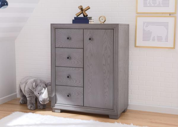 Ravello 4 Drawer Combo Chest (Storm) - bundle