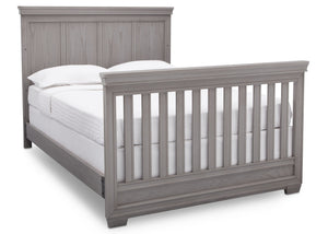 Simmons Kids Storm (161) Ravello Crib 'N' More, Angled Conversion to Full Size Bed View, a6a