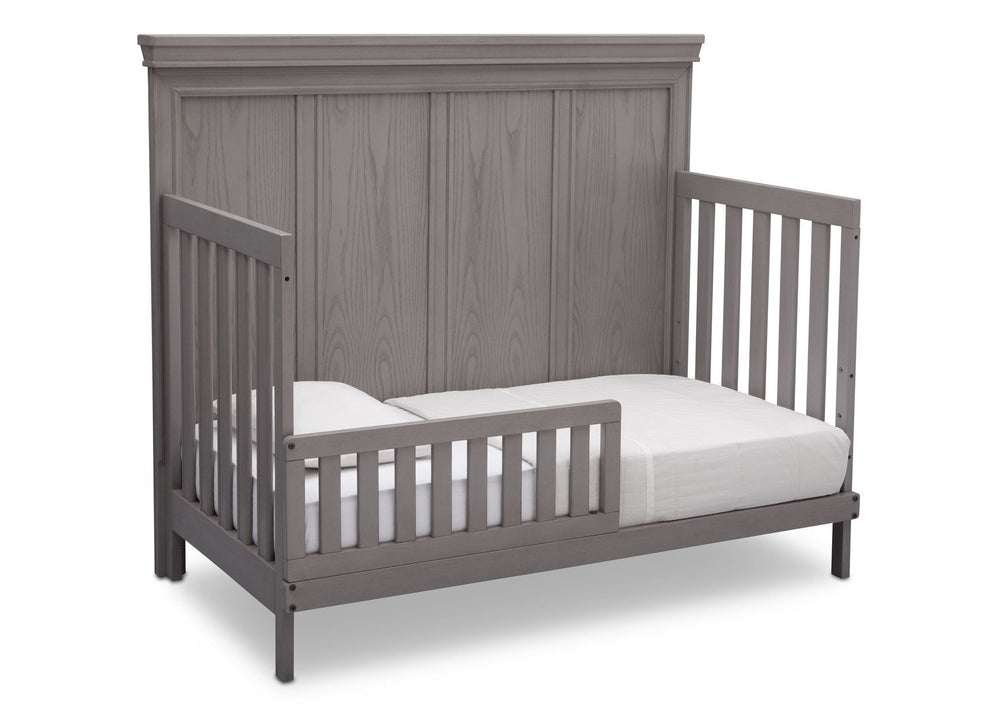 Simmons Kids Storm (161) Ravello Crib 'N' More, Angled Conversion to Toddler Bed View, a4a