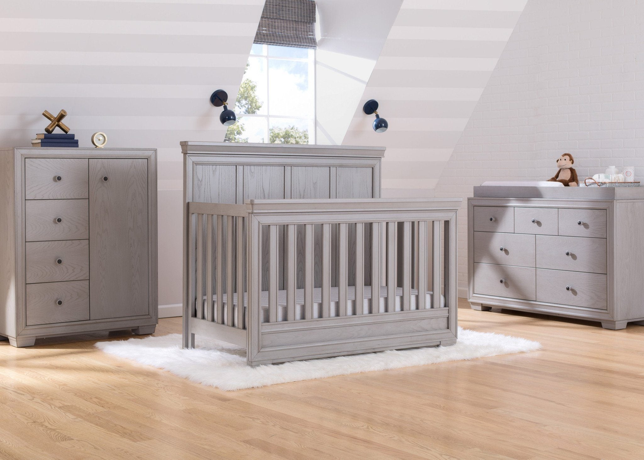 Simmons Kids Storm (161) Ravello Crib 'N' More, Room View, a1a for Ravello Convertible Crib 'N' More