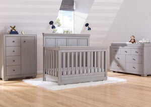 Simmons Kids Storm (161) Ravello Crib 'N' More, Room View, a1a